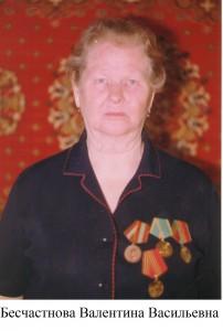 Бесчастнова Валентина Васильевна